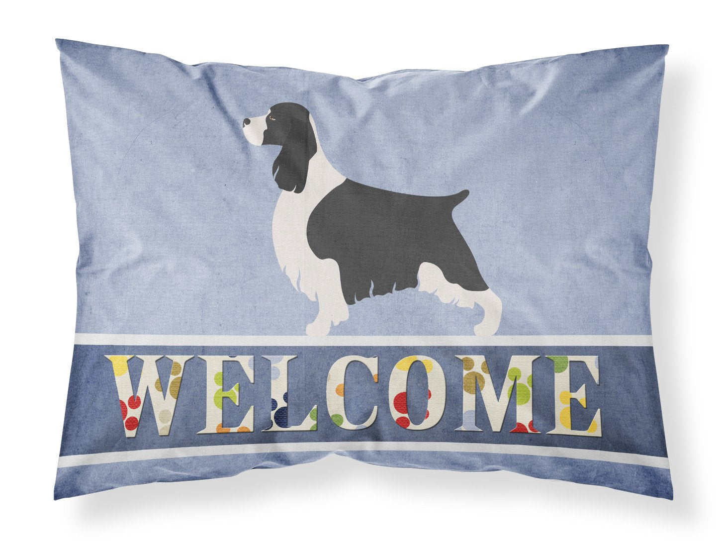 English Springer Spaniel Welcome Fabric Standard Pillowcase BB8273PILLOWCASE by Caroline's Treasures