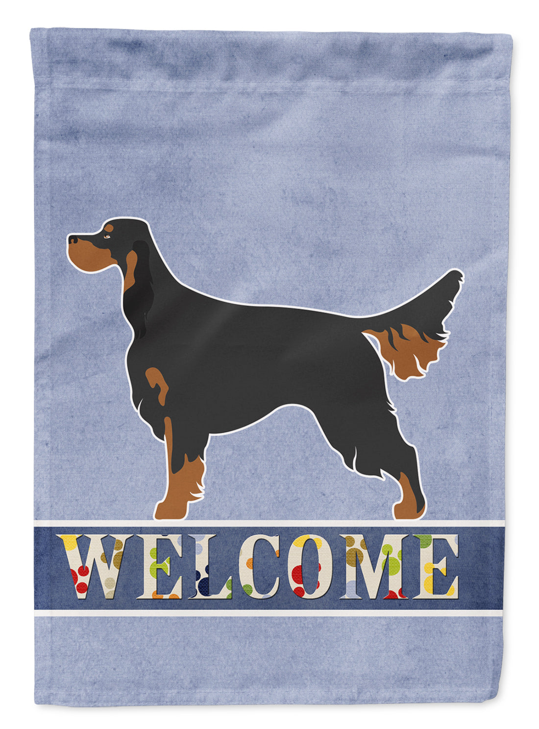 Buy this Gordon Setter Welcome Flag Canvas House Size BB8274CHF