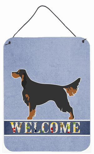 Buy this Gordon Setter Welcome Wall or Door Hanging Prints BB8274DS1216