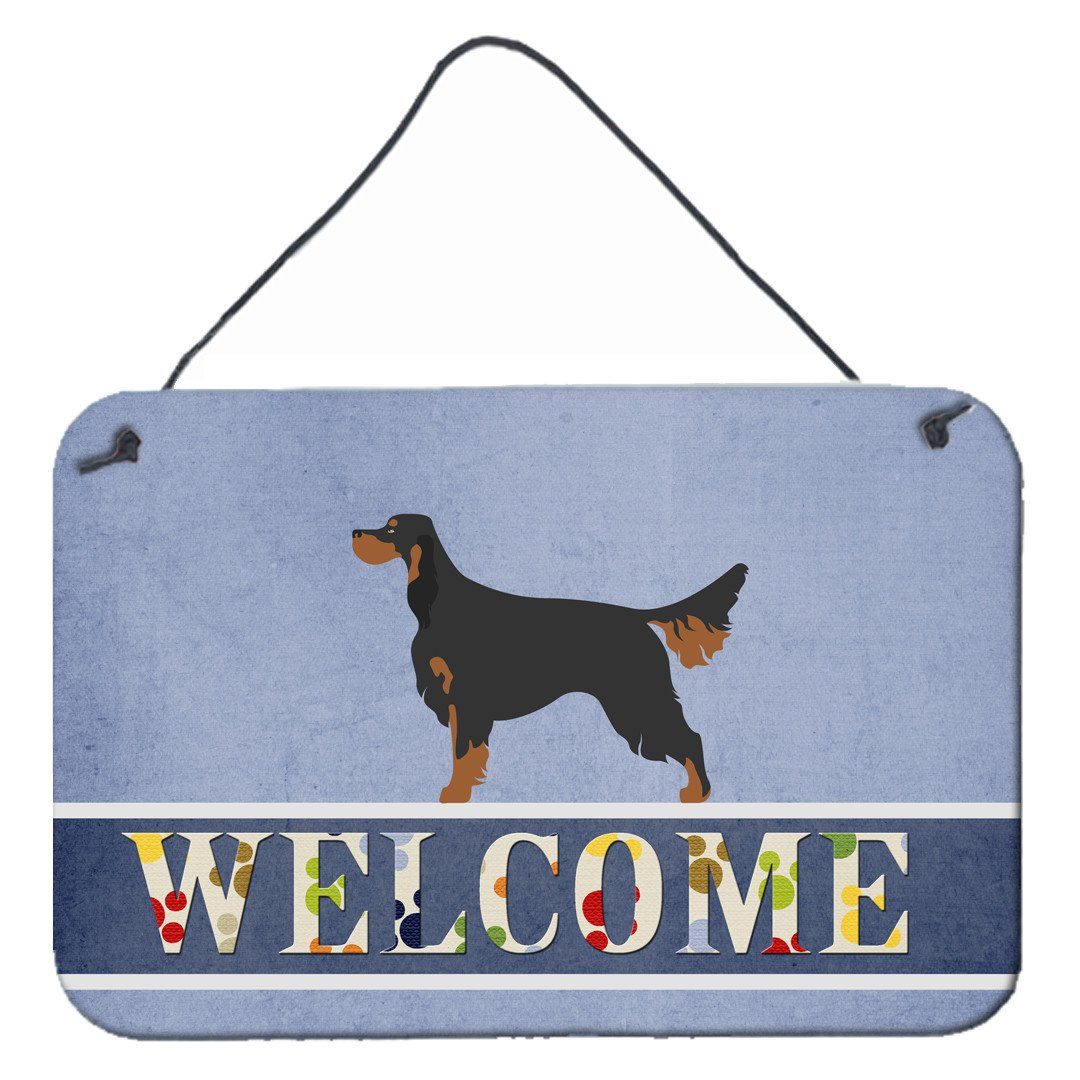 Buy this Gordon Setter Welcome Wall or Door Hanging Prints BB8274DS812