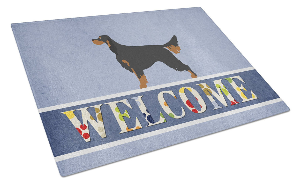 Buy this Gordon Setter Welcome Glass Cutting Board Large BB8274LCB