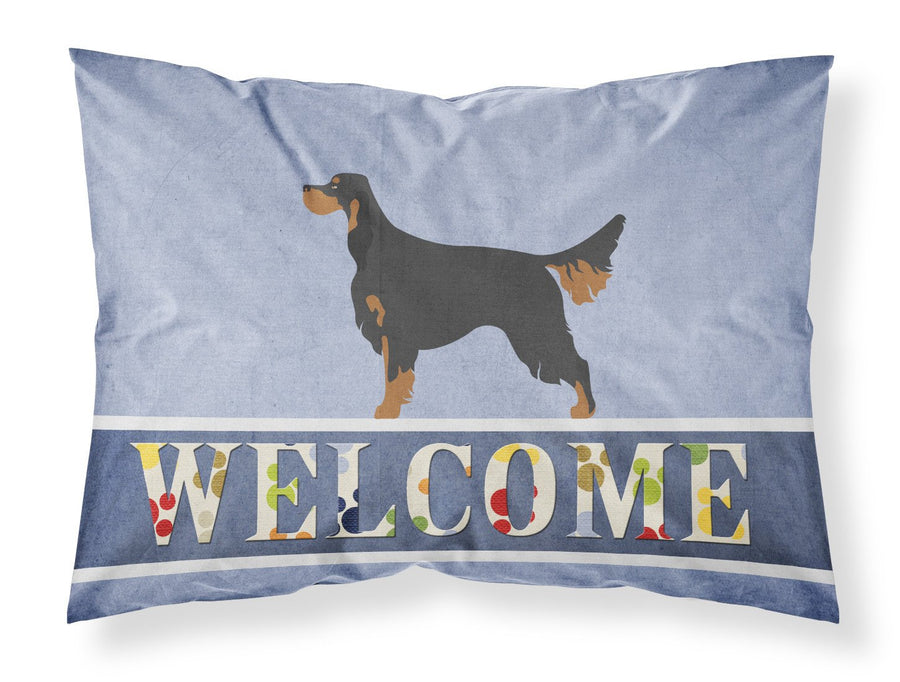 Buy this Gordon Setter Welcome Fabric Standard Pillowcase BB8274PILLOWCASE