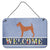 Irish Terrier Welcome Wall or Door Hanging Prints BB8276DS812 by Caroline's Treasures