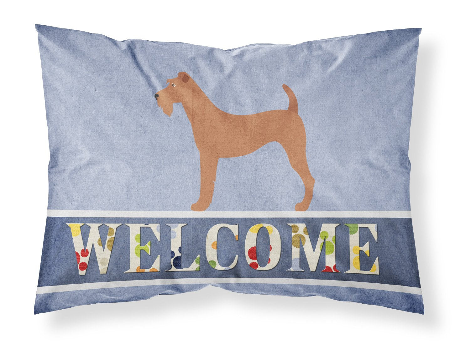 Irish Terrier Welcome Fabric Standard Pillowcase BB8276PILLOWCASE by Caroline's Treasures