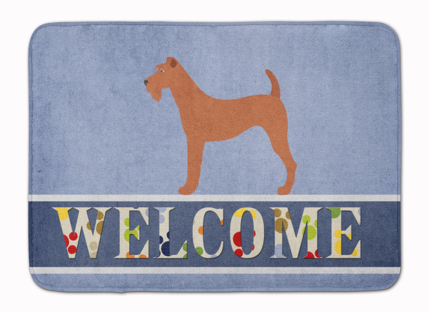 Irish Terrier Welcome Machine Washable Memory Foam Mat BB8276RUG by Caroline's Treasures
