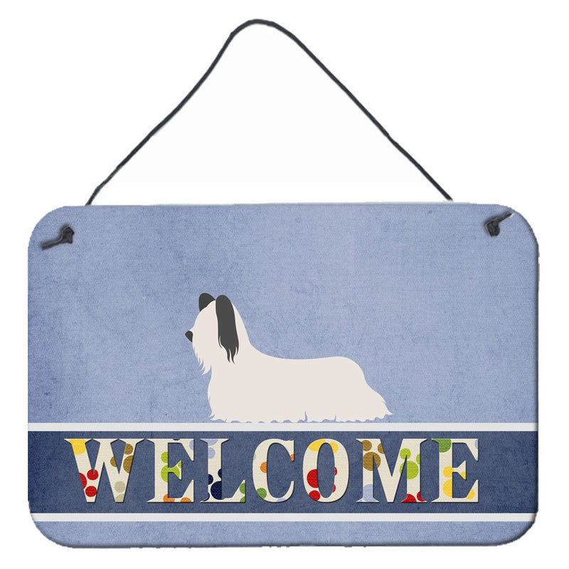 Buy this Skye Terrier Welcome Wall or Door Hanging Prints BB8278DS812
