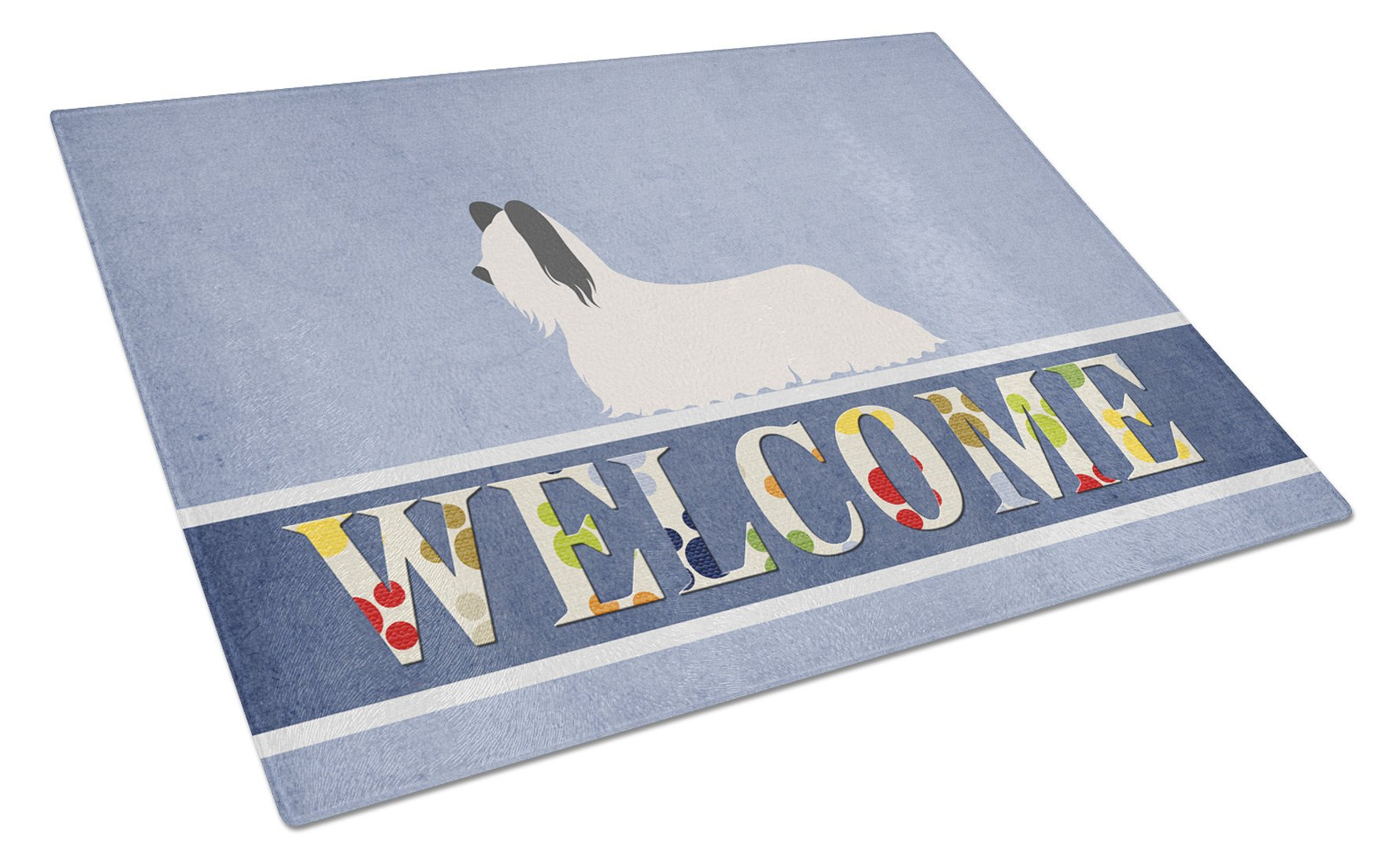Buy this Skye Terrier Welcome Glass Cutting Board Large BB8278LCB