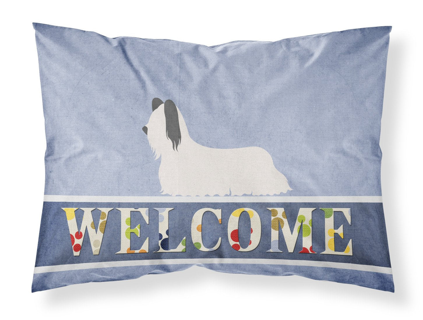 Buy this Skye Terrier Welcome Fabric Standard Pillowcase BB8278PILLOWCASE