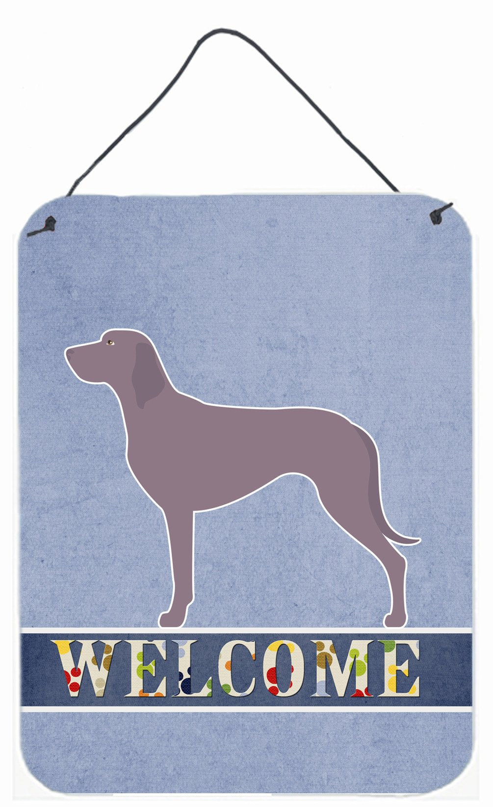 Weimaraner Welcome Wall or Door Hanging Prints BB8280DS1216 by Caroline's Treasures
