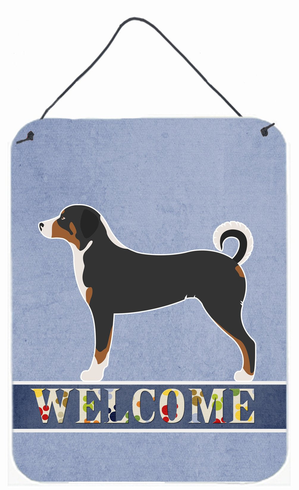 Appenzeller Sennenhund Welcome Wall or Door Hanging Prints BB8288DS1216 by Caroline's Treasures