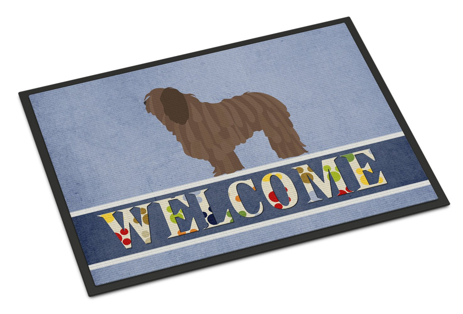 Bergamasco Shepherd Welcome Indoor or Outdoor Mat 24x36 BB8291JMAT by Caroline's Treasures