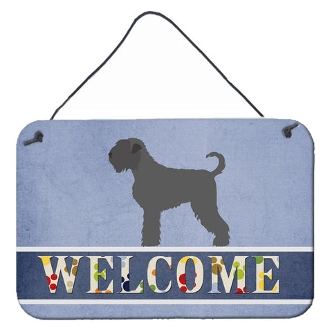 Buy this Black Russian Terrier Welcome Wall or Door Hanging Prints BB8293DS812