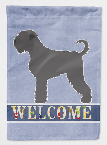 Buy this Black Russian Terrier Welcome Flag Garden Size BB8293GF