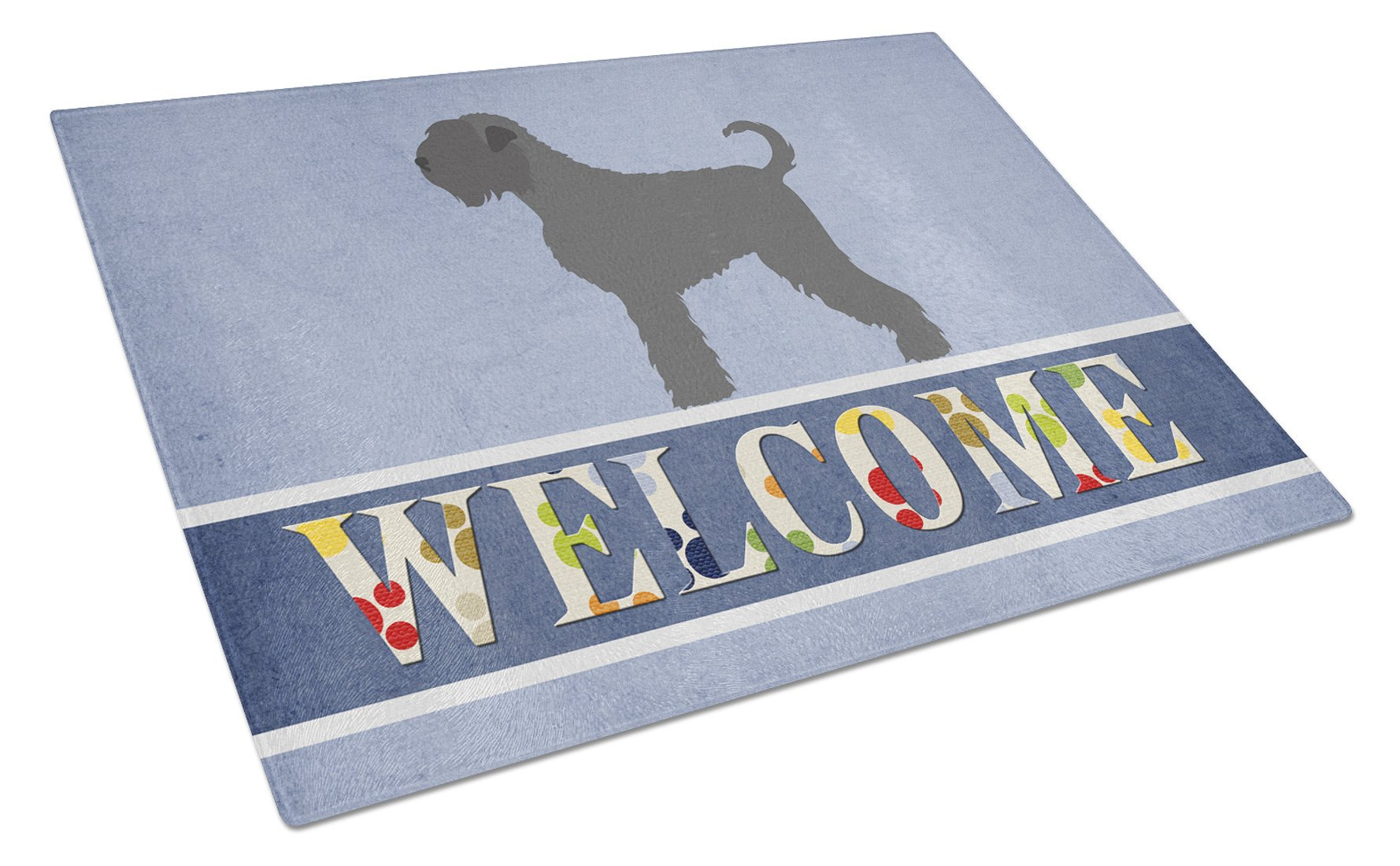 Black Russian Terrier Welcome Glass Cutting Board Large BB8293LCB by Caroline's Treasures
