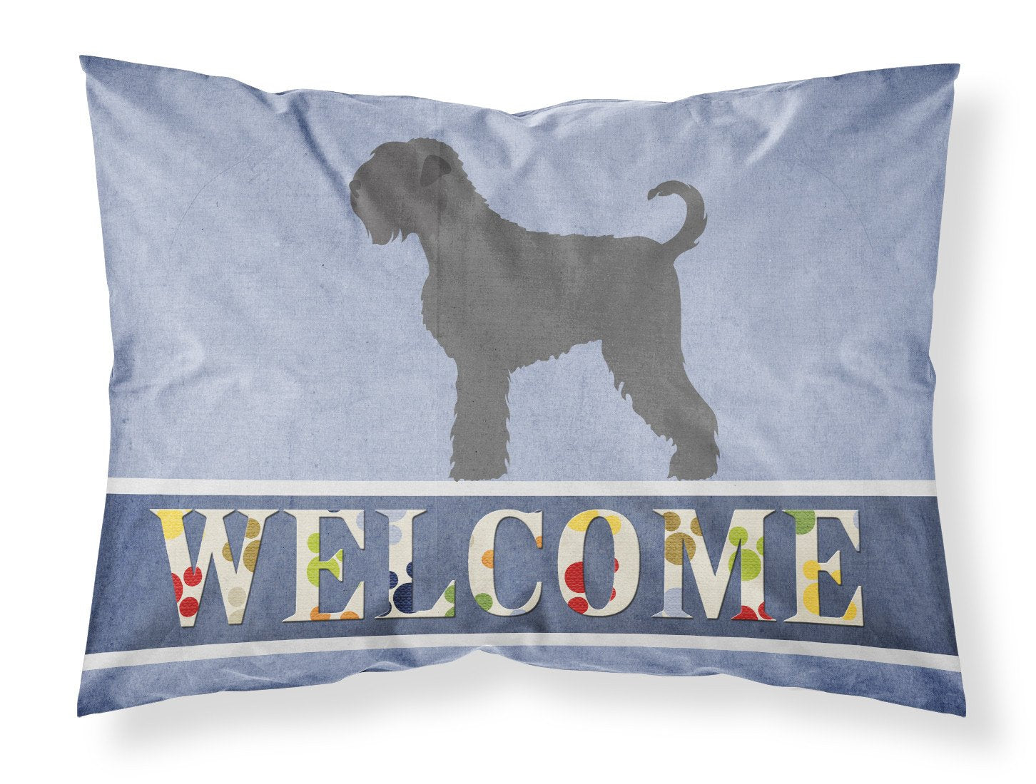 Black Russian Terrier Welcome Fabric Standard Pillowcase BB8293PILLOWCASE by Caroline's Treasures