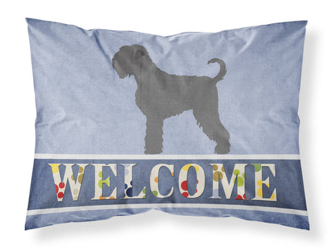 Buy this Black Russian Terrier Welcome Fabric Standard Pillowcase BB8293PILLOWCASE