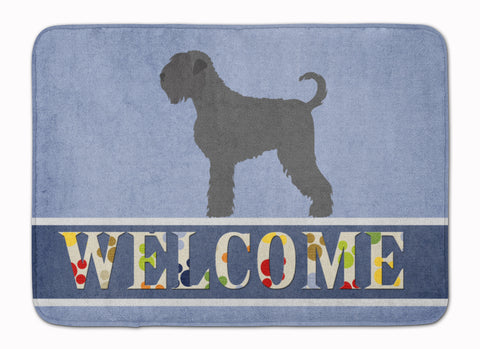 Buy this Black Russian Terrier Welcome Machine Washable Memory Foam Mat BB8293RUG