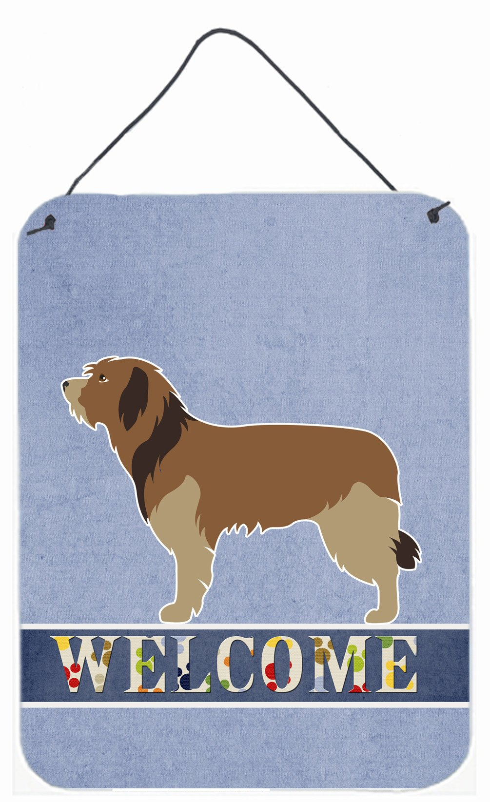 Catalan Sheepdog Welcome Wall or Door Hanging Prints BB8295DS1216 by Caroline's Treasures