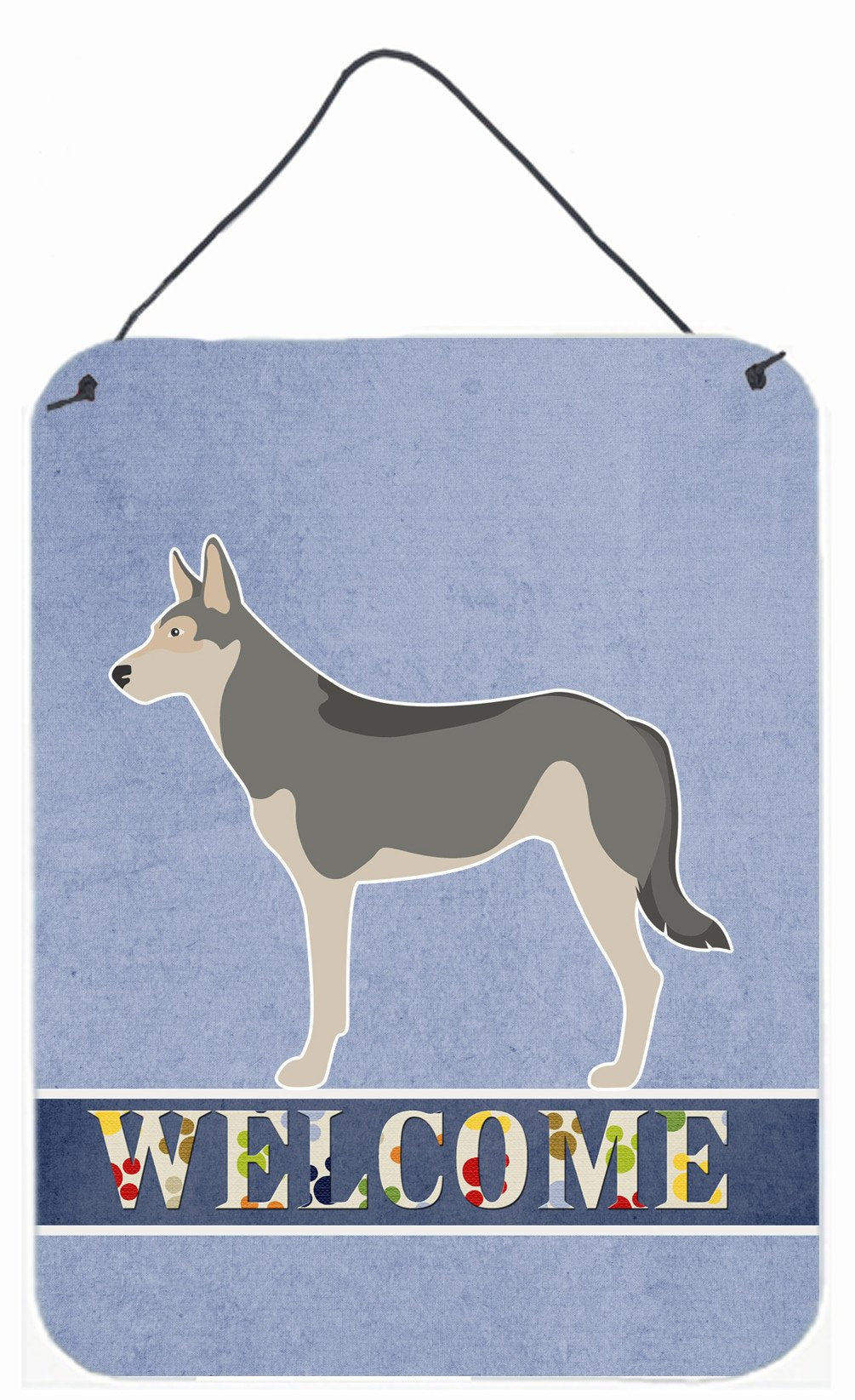 Buy this Saarloos Wolfdog Welcome Wall or Door Hanging Prints BB8296DS1216