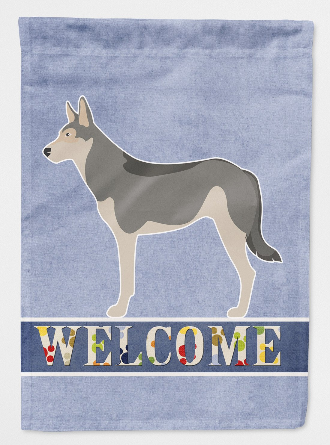 Buy this Saarloos Wolfdog Welcome Flag Garden Size BB8296GF