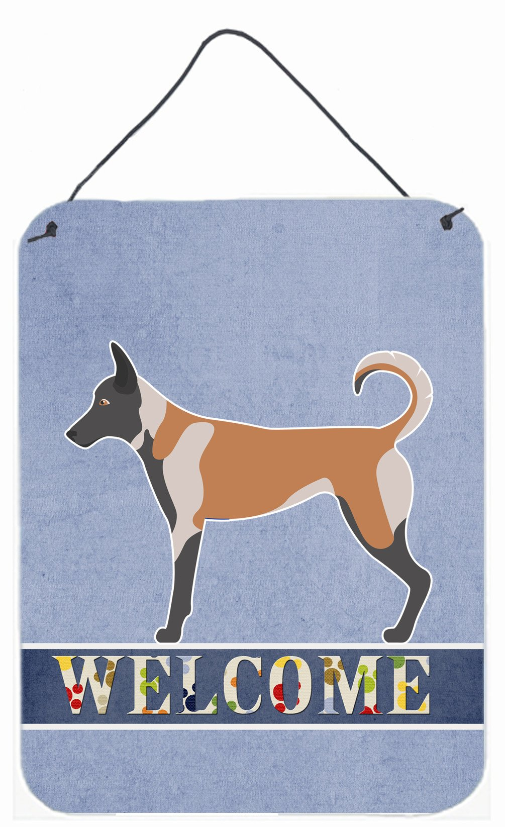 Malinois Welcome Wall or Door Hanging Prints BB8299DS1216 by Caroline's Treasures