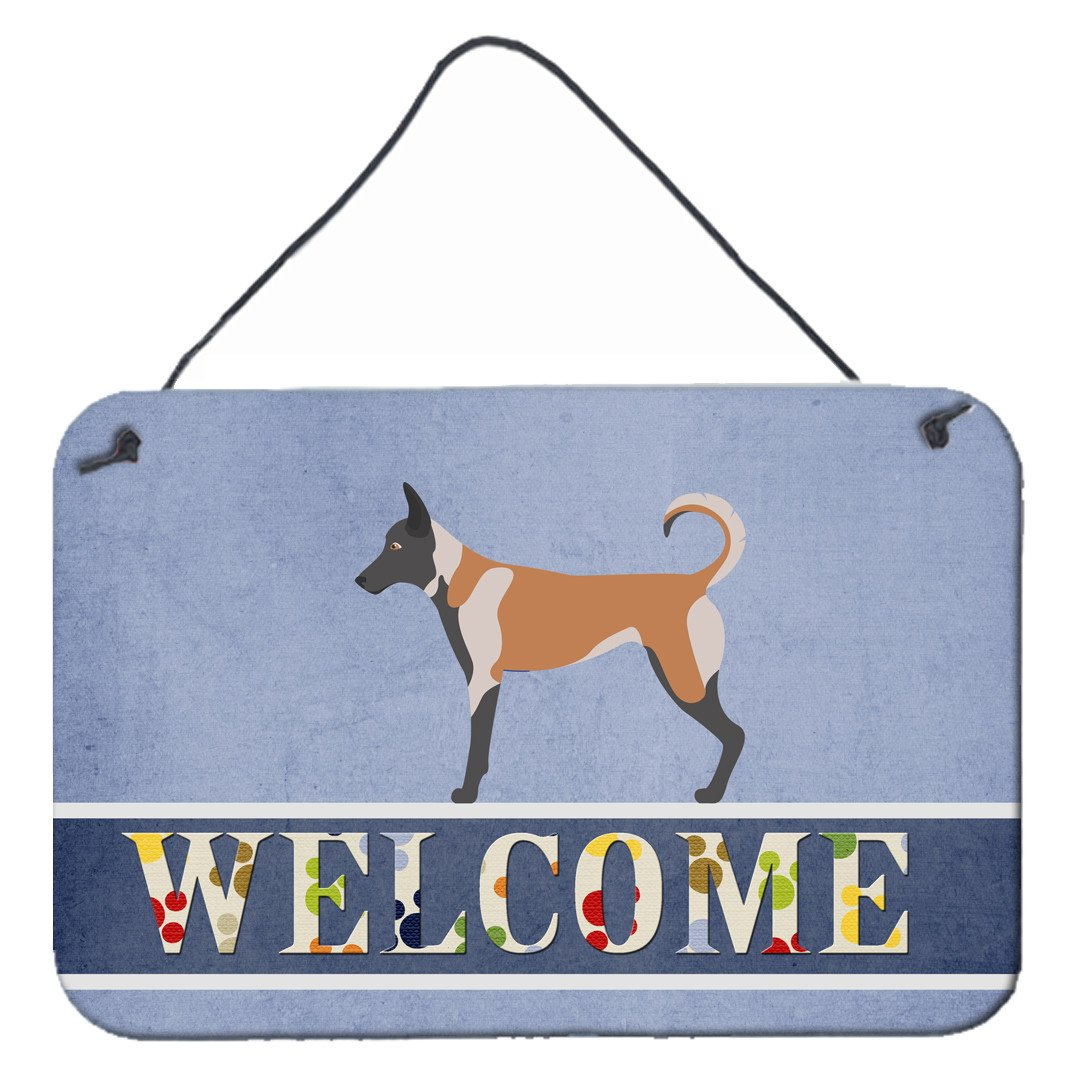 Malinois Welcome Wall or Door Hanging Prints BB8299DS812 by Caroline's Treasures