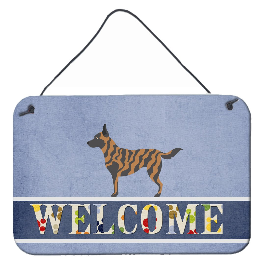 Dutch Shepherd Welcome Wall or Door Hanging Prints BB8300DS812 by Caroline's Treasures