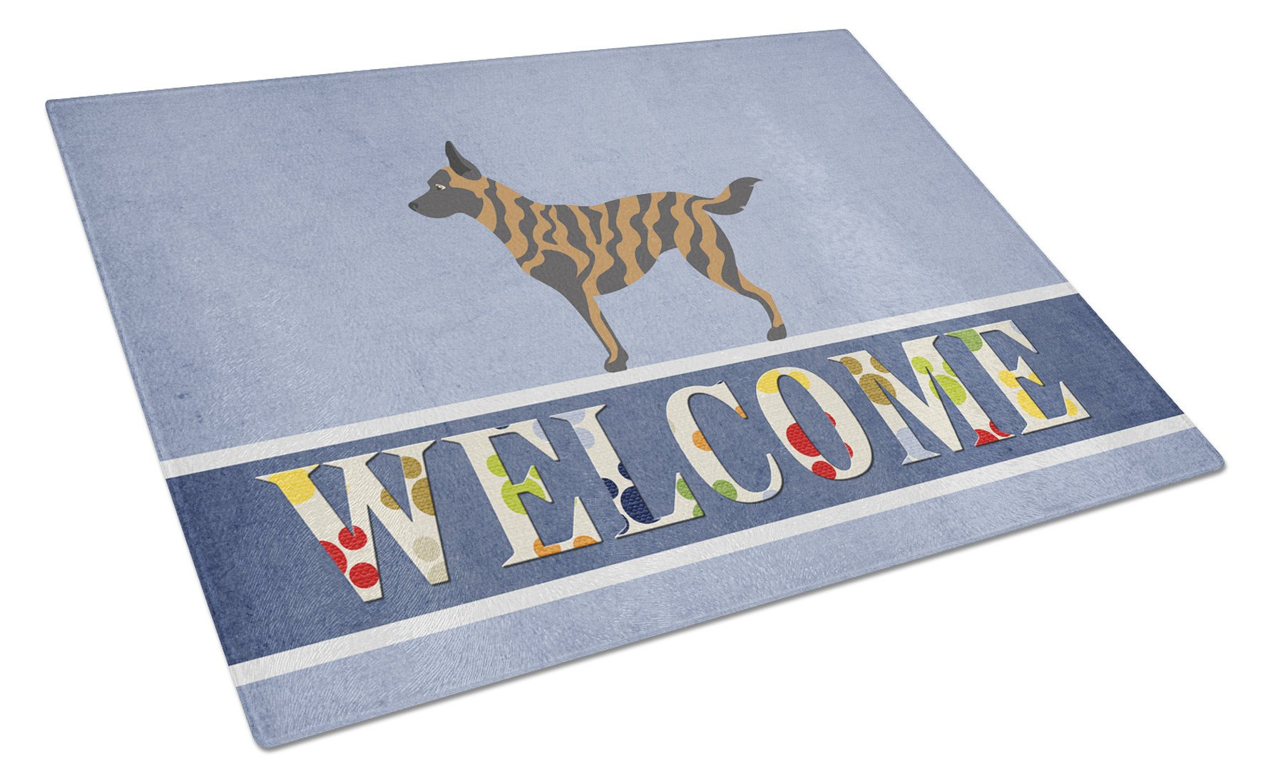 Dutch Shepherd Welcome Glass Cutting Board Large BB8300LCB by Caroline's Treasures