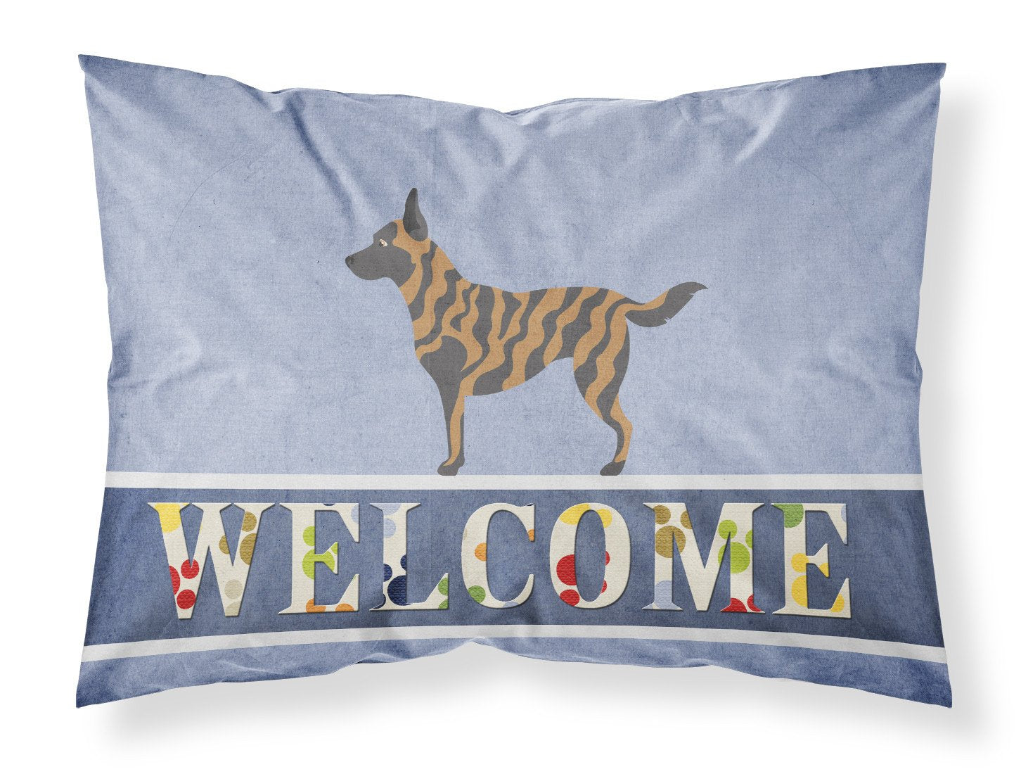 Dutch Shepherd Welcome Fabric Standard Pillowcase BB8300PILLOWCASE by Caroline's Treasures
