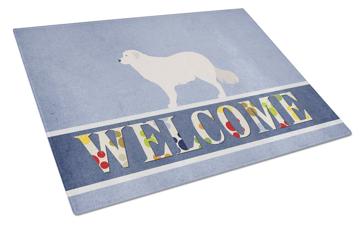 Buy this Kuvasz Welcome Glass Cutting Board Large BB8305LCB