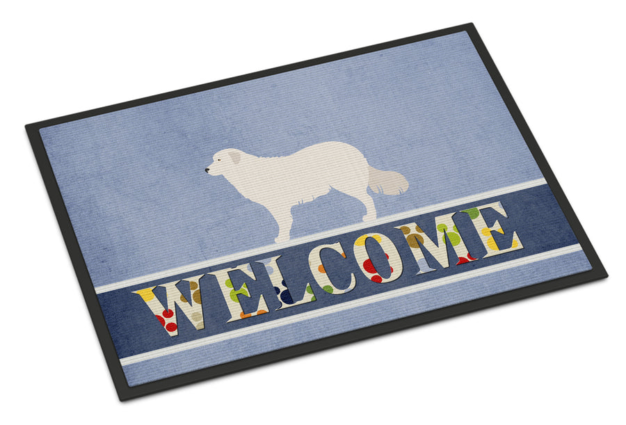 Buy this Kuvasz Welcome Indoor or Outdoor Mat 18x27 BB8305MAT