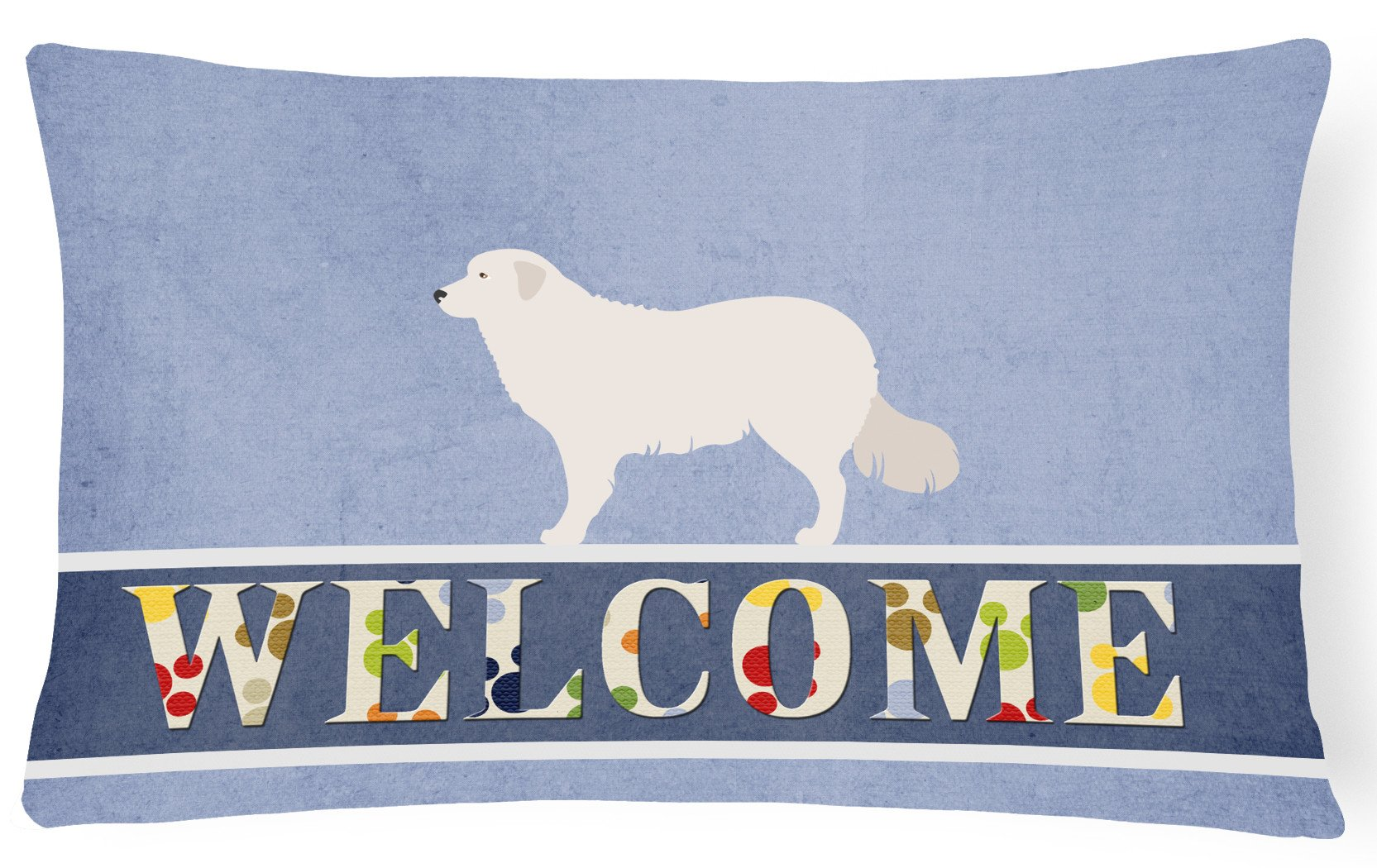 Kuvasz Welcome Canvas Fabric Decorative Pillow BB8305PW1216 by Caroline's Treasures