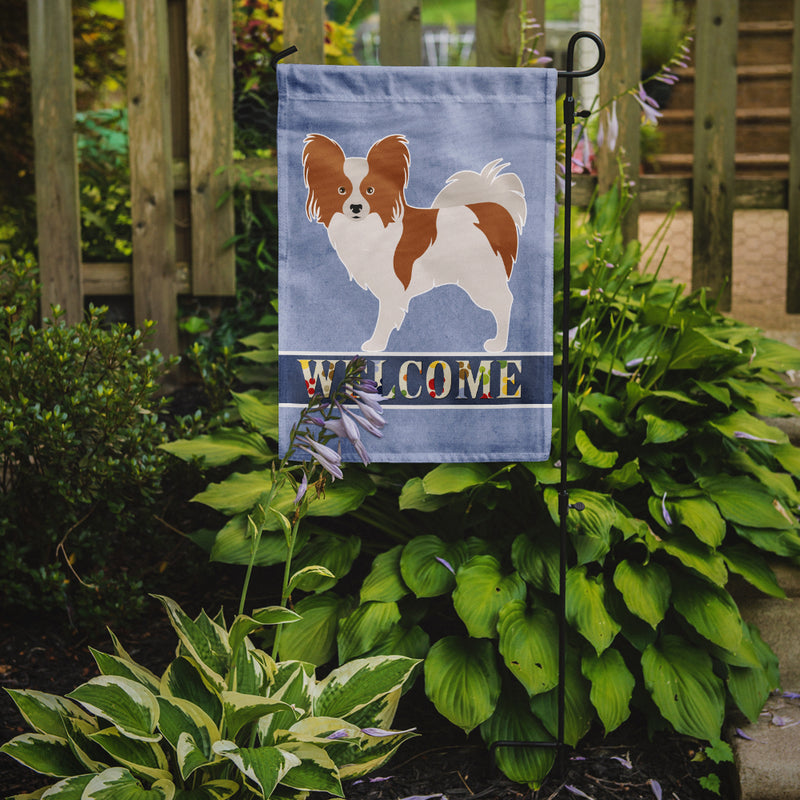 Buy this Papillon Welcome Flag Garden Size BB8310GF
