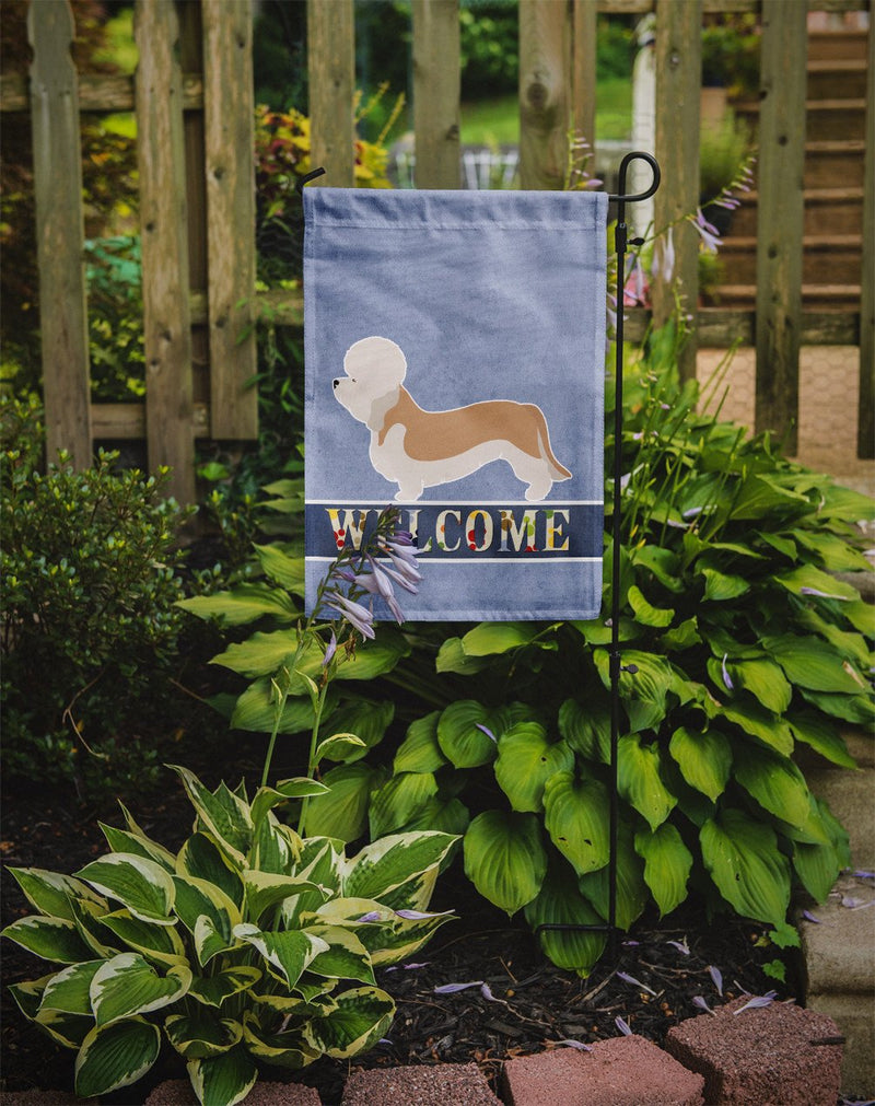 Buy this Dandie Dinmont Terrier Welcome Flag Garden Size BB8312GF