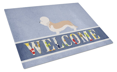 Buy this Dandie Dinmont Terrier Welcome Glass Cutting Board Large BB8312LCB