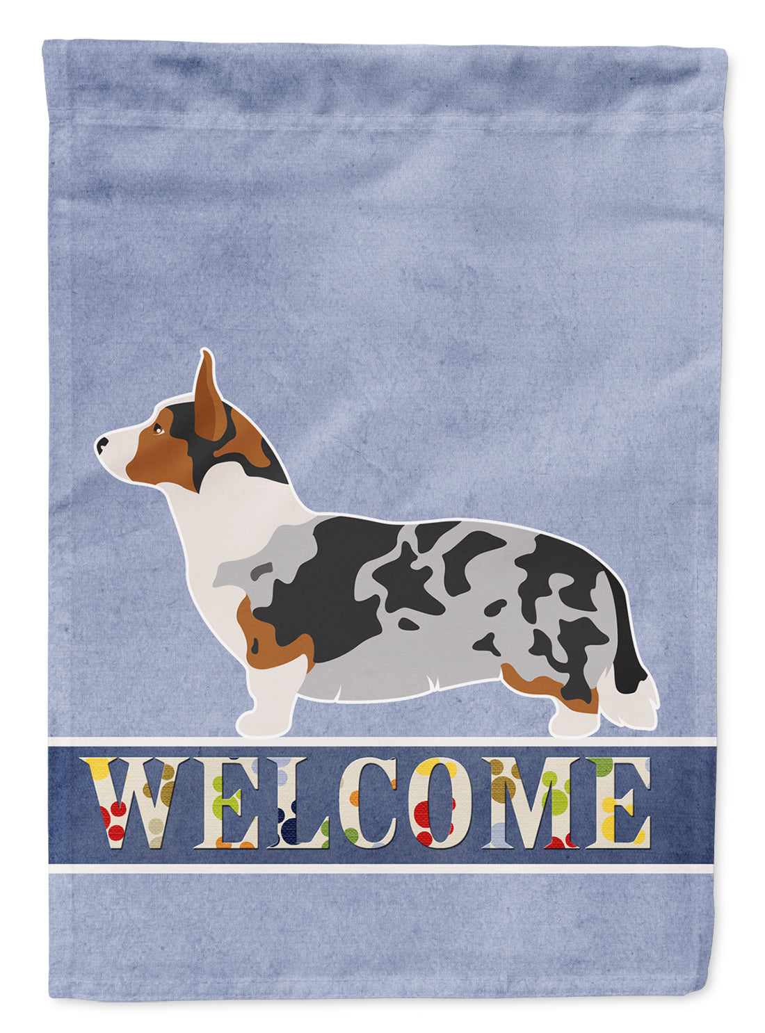 Welsh Corgi Cardigan Welcome Flag Garden Size BB8313GF by Caroline's Treasures