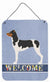Brazilian Terrier Welcome Wall or Door Hanging Prints BB8315DS1216 by Caroline's Treasures