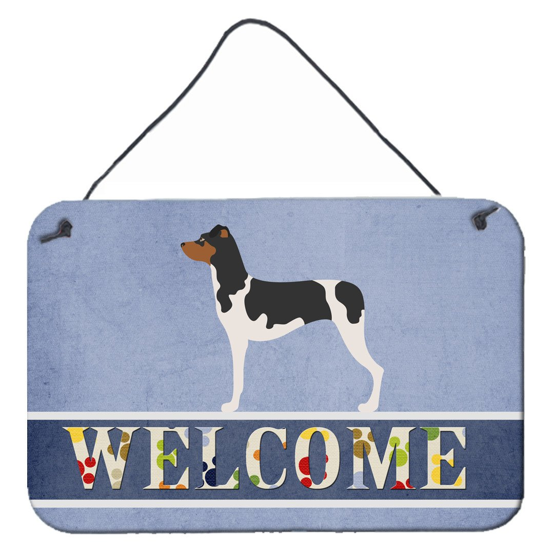 Brazilian Terrier Welcome Wall or Door Hanging Prints BB8315DS812 by Caroline's Treasures