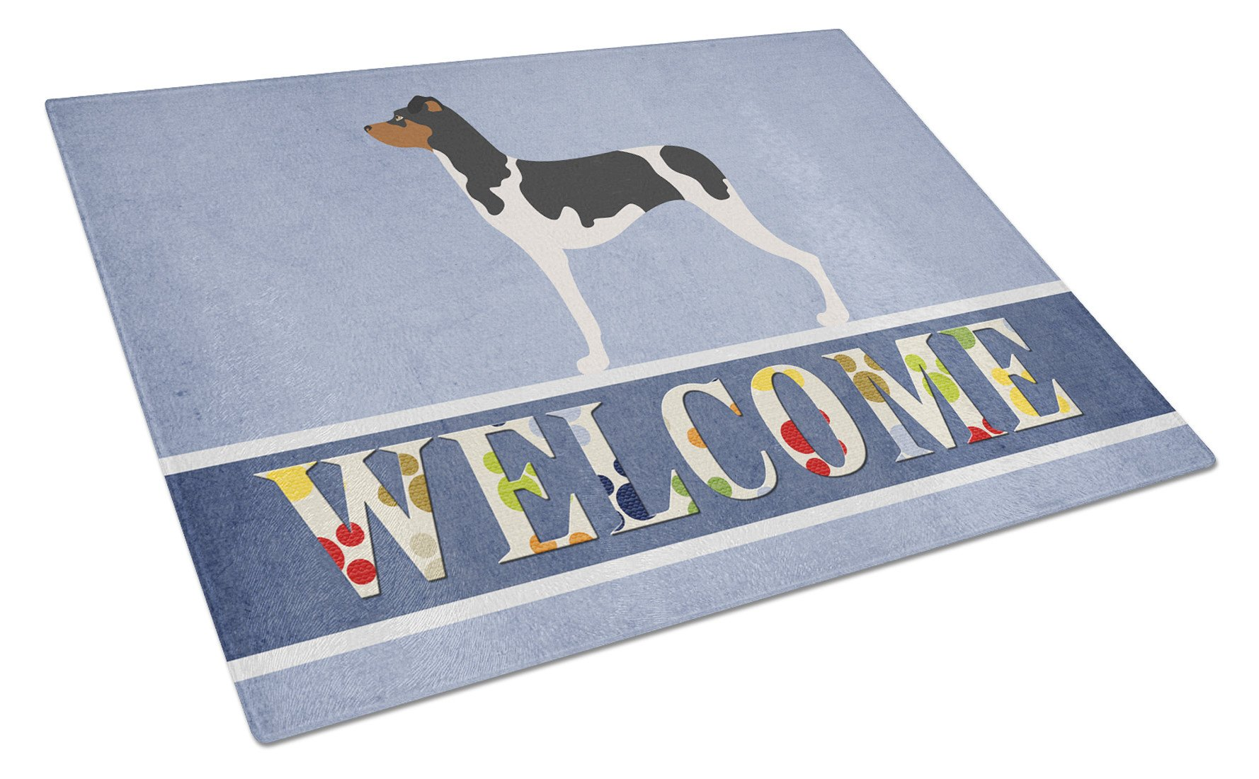 Brazilian Terrier Welcome Glass Cutting Board Large BB8315LCB by Caroline's Treasures