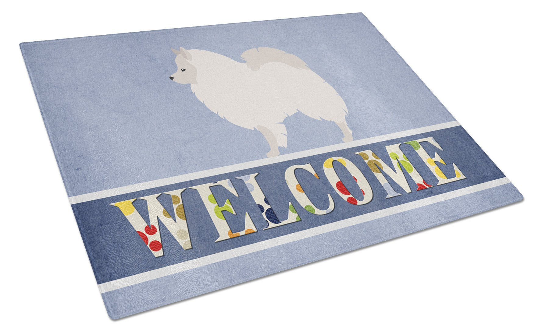 German Spitz Welcome Glass Cutting Board Large BB8317LCB by Caroline's Treasures