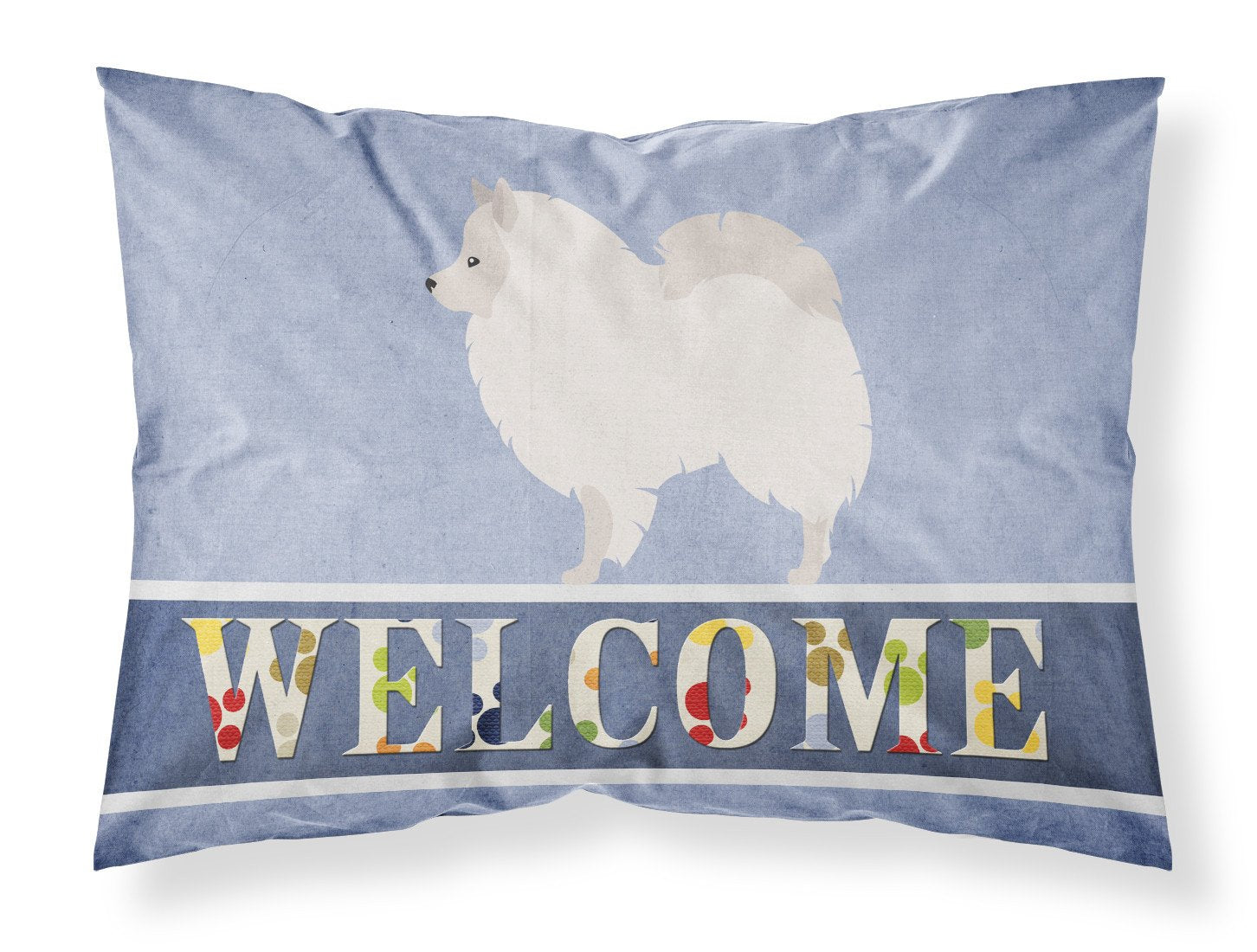 Buy this German Spitz Welcome Fabric Standard Pillowcase BB8317PILLOWCASE