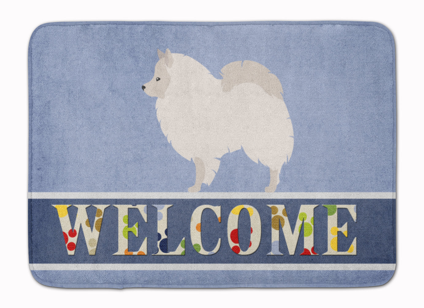 German Spitz Welcome Machine Washable Memory Foam Mat BB8317RUG by Caroline's Treasures