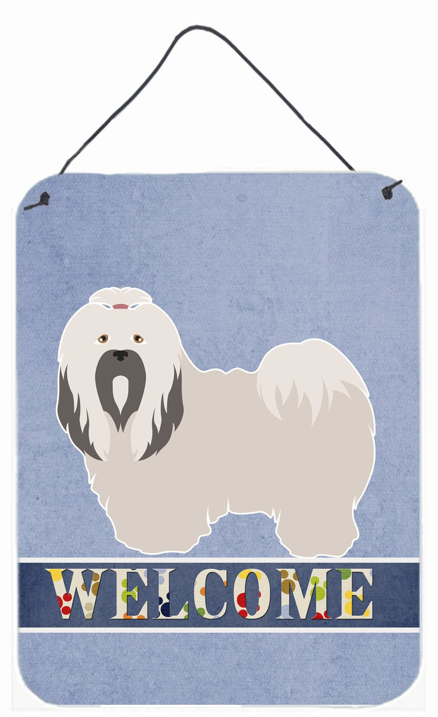 Buy this Lhasa Apso Welcome Wall or Door Hanging Prints BB8319DS1216
