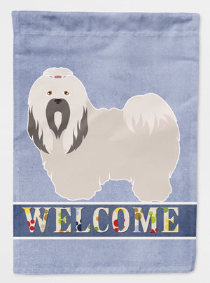 Buy this Lhasa Apso Welcome Flag Garden Size BB8319GF