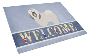 Buy this Lhasa Apso Welcome Glass Cutting Board Large BB8319LCB