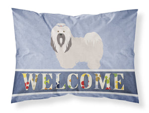 Buy this Lhasa Apso Welcome Fabric Standard Pillowcase BB8319PILLOWCASE