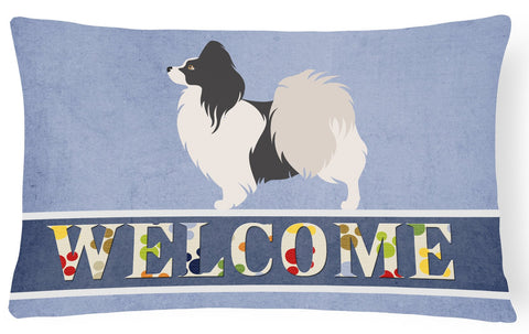 Buy this Papillon Welcome Canvas Fabric Decorative Pillow BB8322PW1216