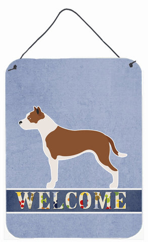 Buy this Pit Bull Terrier Welcome Wall or Door Hanging Prints BB8325DS1216