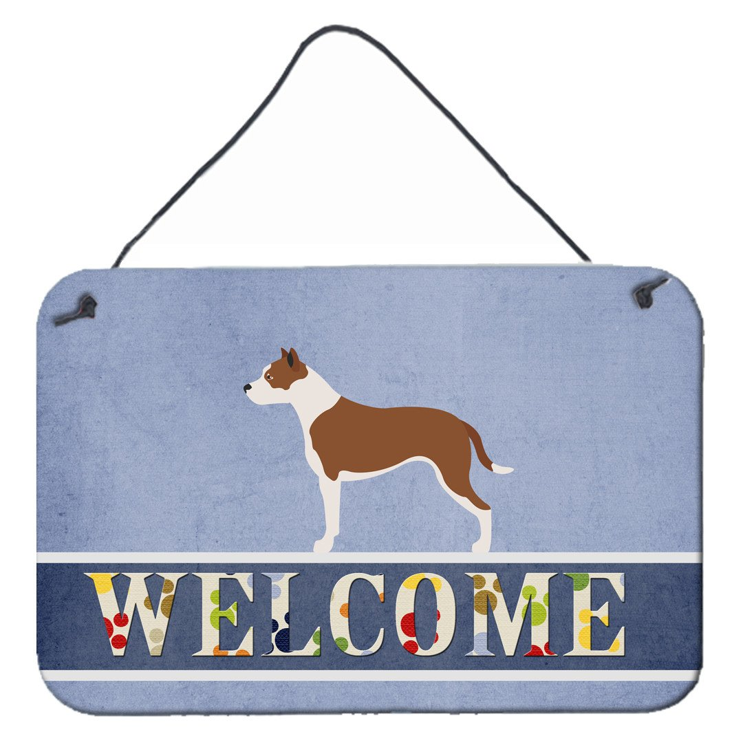 Buy this Pit Bull Terrier Welcome Wall or Door Hanging Prints BB8325DS812