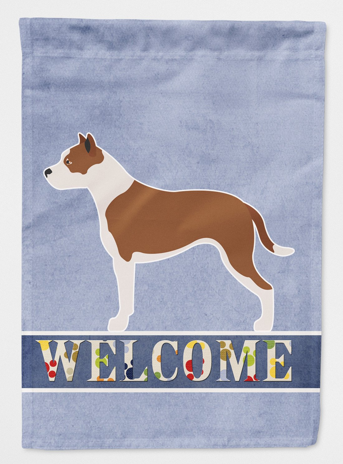 Buy this Pit Bull Terrier Welcome Flag Garden Size BB8325GF
